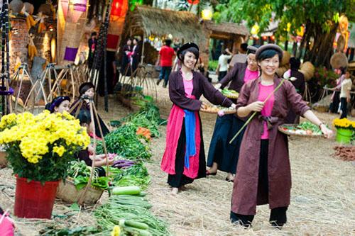 Chợ tết: Nơi lưu giữ hồn quê